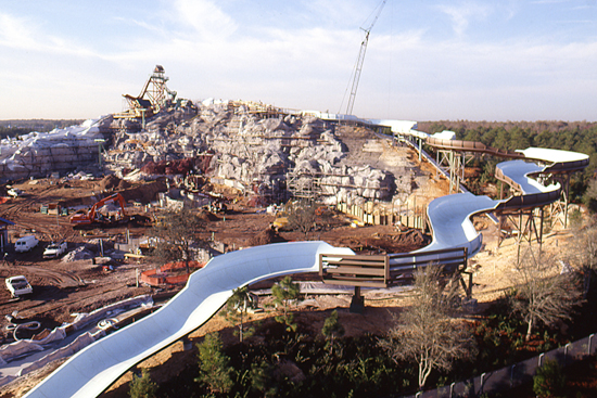 Summit Plummet Takes Shape at Disney's Blizzard Beach Water Park in 1994