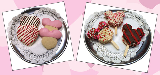 Mickey Mouse-Shaped Cookies and Rice Krispies at Disney Parks for Valentine's Day