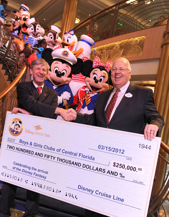 Disney Cruise Line Contributes $250,000 to the Boys & Girls Clubs of Central Florida