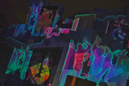 Your Dance Moves Could Get Your Image Projected on the Walls of Tron City at Disney California Adventure Park