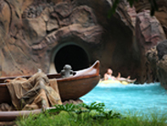 Menehune Spotted in a Canoe at Aulani, a Disney Resort & Spa