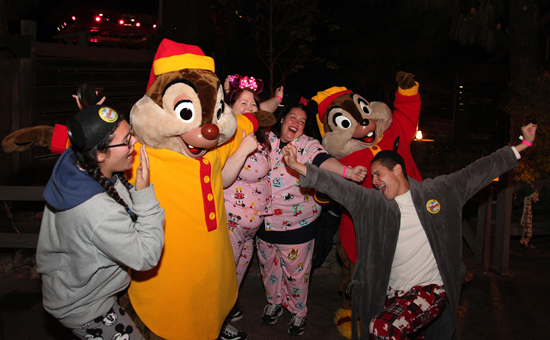 Chip 'n' Dale in Their Pajamas for One More Disney Day