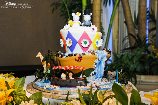 The Jungle Cruise Wedding Cake at Walt Disney World Resort