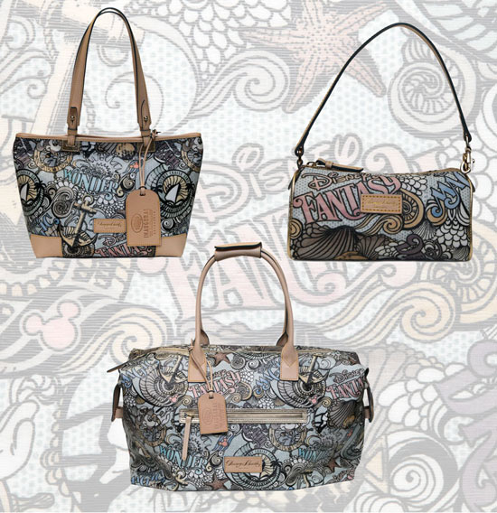 Items from the Disney Cruise Line Exclusive Dooney & Bourke Collection