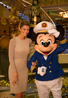 Erin Andrews with Mickey Mouse on the Disney Fantasy