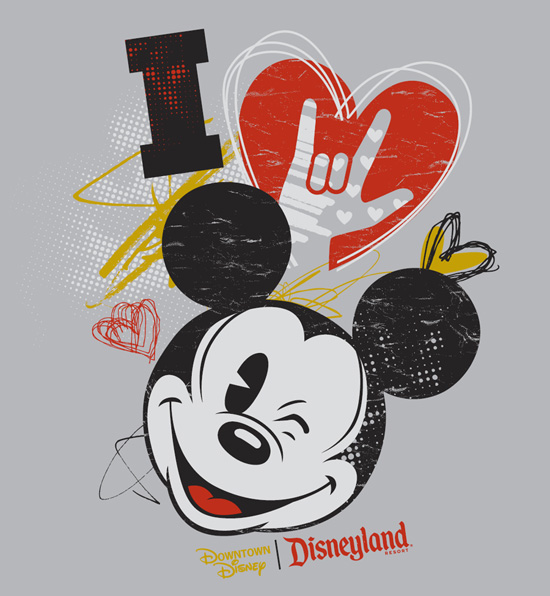 American Sign Language (ASL) 'I Love Mickey' Tee Shirt Coming to the Downtown Disney District