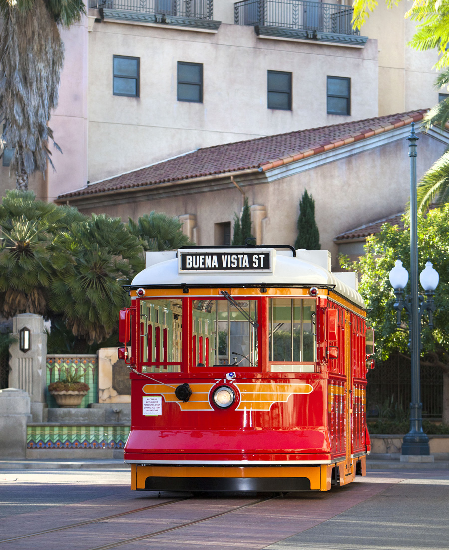 red car trolley tests the track at disney california adventure park disney parks blog. Black Bedroom Furniture Sets. Home Design Ideas