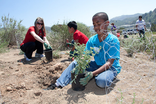 Boys & Girls Clubs in Orange County, Calif., Plant First of Five Magic of Healthy Living Gardens, Sponsored by the Disneyland Resort