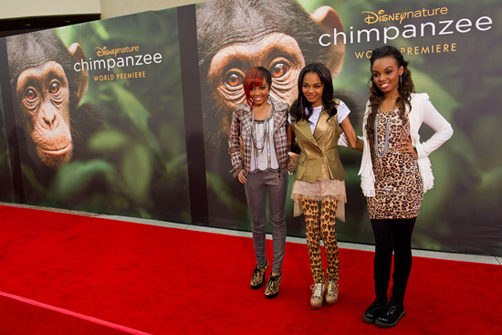 McClain Sisters at the World Premiere of Disneynature's 'Chimpanzee' at Downtown Disney in the Walt Disney World Resort