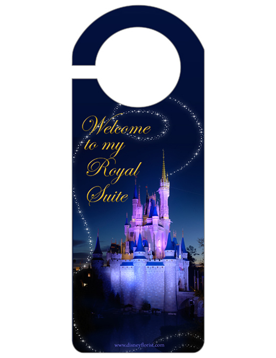 Door Hanger for \u0027Presenting Your Royal Princess\u0027 In-Room Celebration at Walt Disney