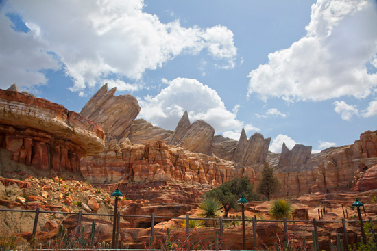 Ornament Valley in Cars Land at Disney California Adventure Park, By Paul Hiffmeyer