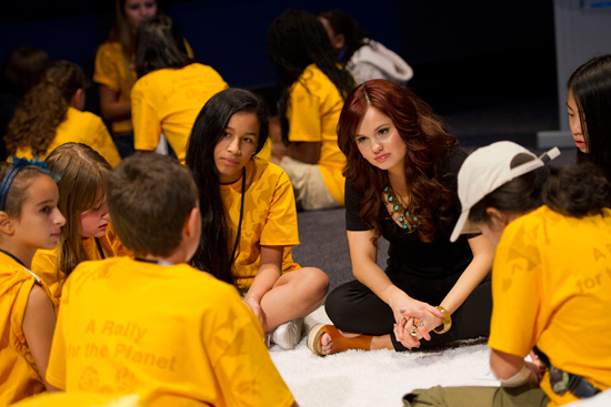 Disney Channel Star Debby Ryan Participating in the Disney Friends for Change Youth Summit Presentations and Workshops