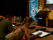 Gracie Kitterman, 10, and Her Dad Draw Agent P at The Magic of Disney Animation at Disney's Hollywood Studios