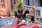 Ray Park, Known to the Film Galaxy as Darth Maul, Rides in the 'Legends of the Force' Motorcade
