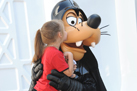 Goofy's Darth Vader Outfit Can't Fool this Youngling. She Knows He's Lovable at Heart