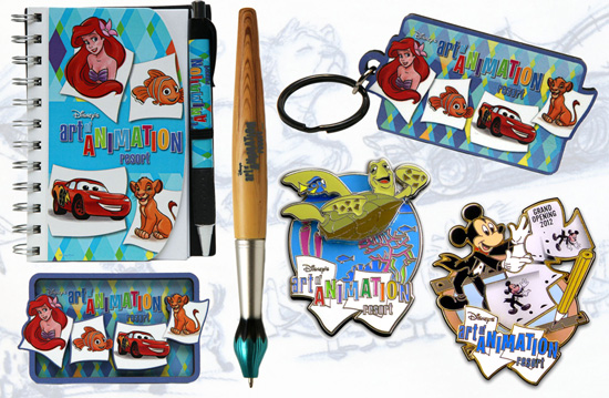 Disney's Art of Animation Resort Merchandise Featuring Souvenirs