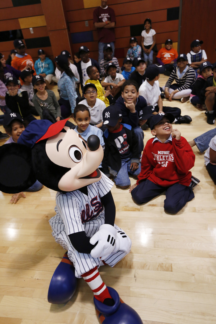 Children from the Kips Bay Boys & Girls Club in the Bronx Meeting Mickey Mouse