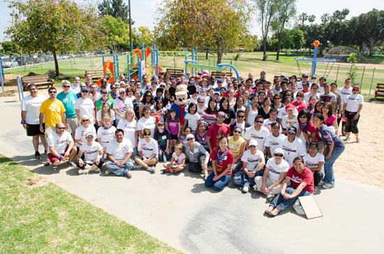Disney VoluntEARS Helped Build A New Playground in Anaheim