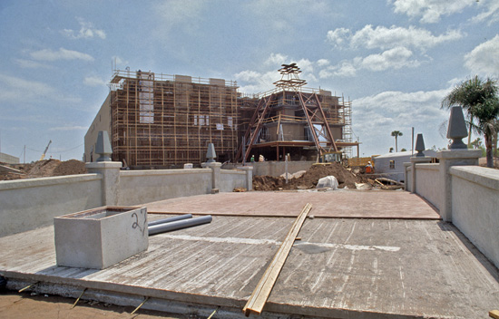 Mexico Pavilion Prior to Opening in May 1982 at Epcot