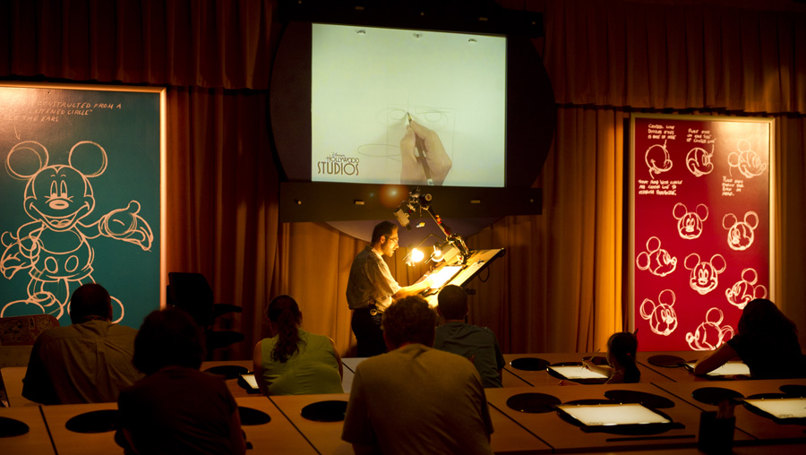 Disney Artist Don Shane Creates Agent P in Front of Classroom at The Magic of Disney Animation at Disney's Hollywood Studios
