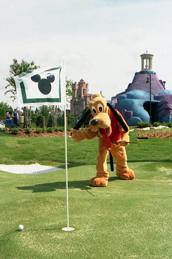 Pluto at Fantasia Gardens and Fantasia Fairways in May 1996