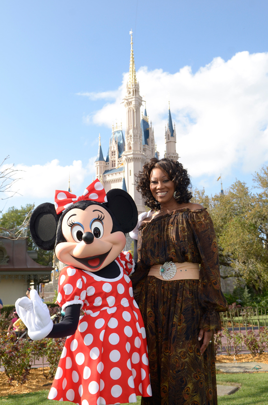 Yolanda Adams and Minnie at Magic Kingdom Park