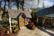 'My Yard Goes Disney' Created a Miniature Village in the Morales Family's Backyard