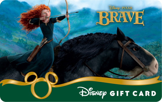 The New 'Brave' Disney Gift Card
