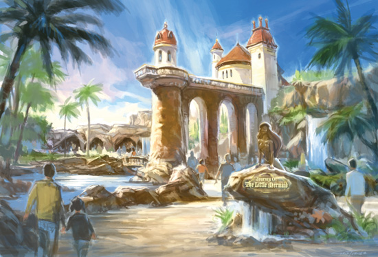 Artist Rendering of Prince Eric's Castle in New Fantasyland at Magic Kingdom Park