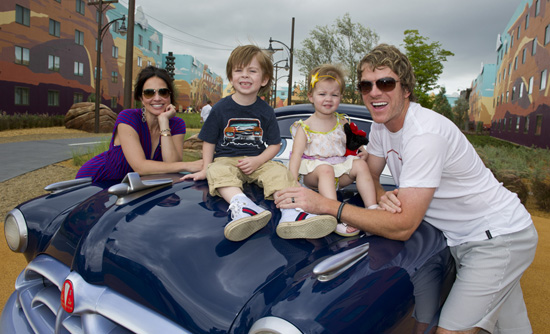 Joe Don Rooney of Rascal Flatts at Disney's Art of Animation Resort with His Family