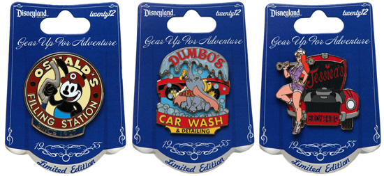 Pins from the New 'Car Show at Disneyland' Collection