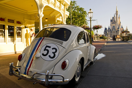 Herbie the Love Bug on Main Street, U.S.A., in Magic Kingdom Park