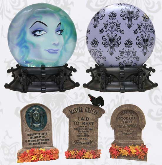 Like the Haunted Mansion? Check Out the New Madame Leota Globe and Mini Tombstones!