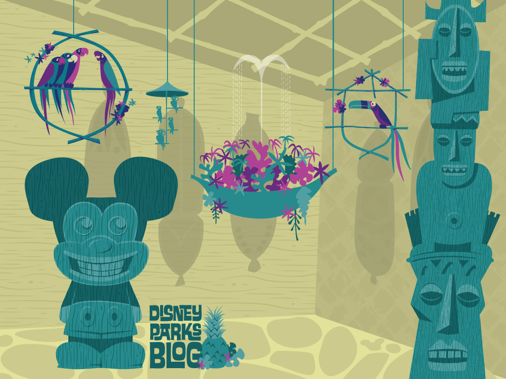 Desktop Wallpaper Featuring Walt Disneys Enchanted Tiki Room