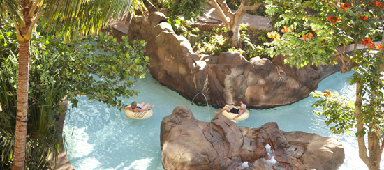 Waikolohe Stream at Aulani, a Disney Resort & Spa in Hawai`i