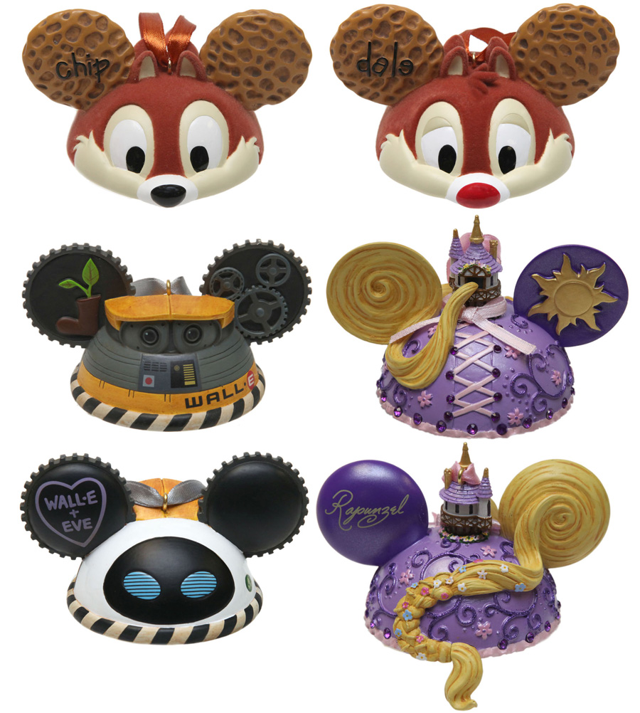 Disney ornament sets - New Ear Hat Ornaments Coming To Disney Parks