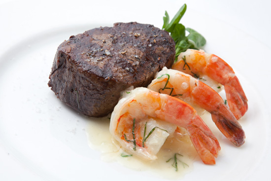 Steak Filet with Garlicky Shrimp Scampi from Steakhouse 55 at the Disneyland Hotel