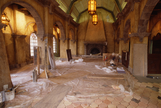 The Lobby of the Twilight Zone Tower of Terror at Disney's Hollywood Studios, Under Construction in May 1994