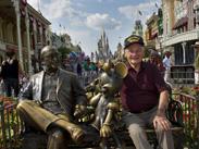 World War II Veteran and Purple Heart Recipient Louis Lessure Visits Magic Kingdom Park