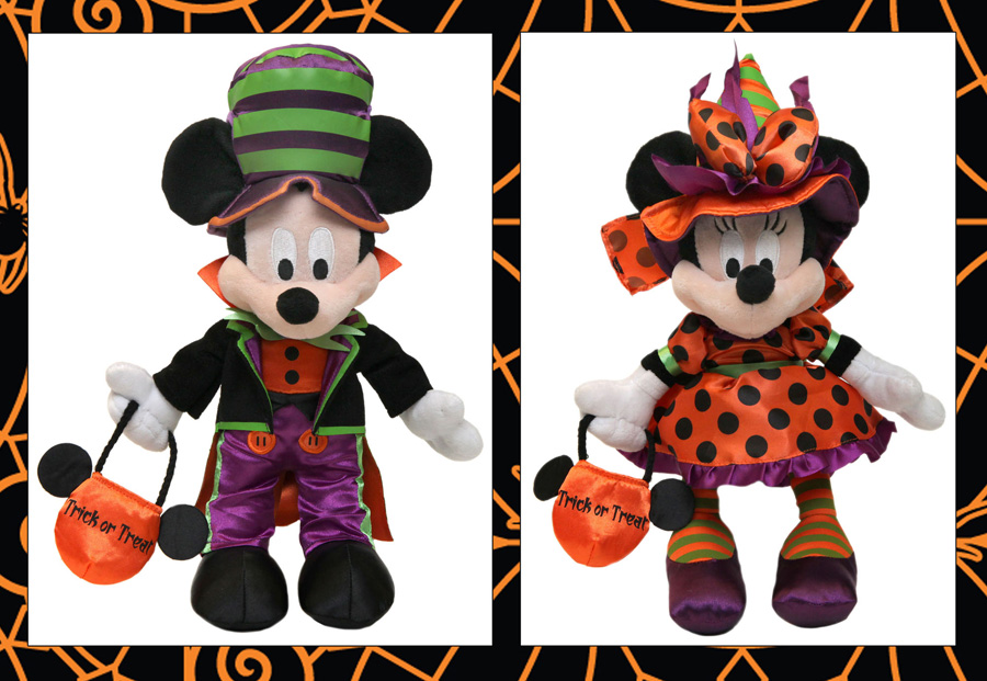 mickey mouse and minnie mouse halloween plush available at disney parks - Mickey Minnie Halloween