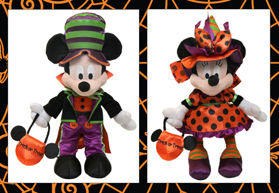 Mickey Mouse and Minnie Mouse Halloween Plush Available at Disney Parks
