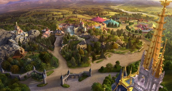 Signature Images Features View of New Fantasyland at Magic Kingdom Park in Detail