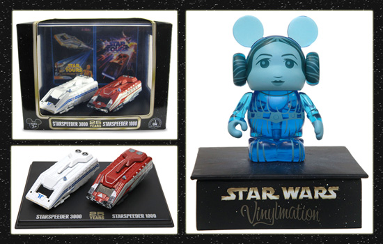 Princess Leia Vinylmation and Starspeeder Figures from Disney Theme Park Merchandise