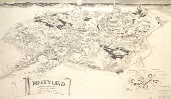 Disneyland Concept Art Designed by Disney Legend Herb Ryman
