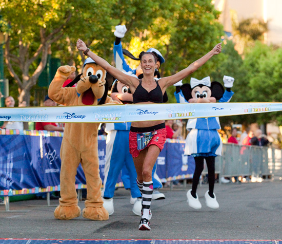 Cindy Lynch Takes the Women's Title at the Disneyland Half Marathon