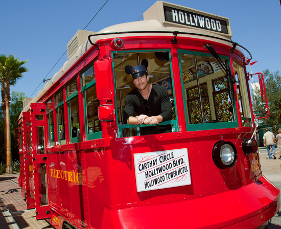 Dylan McDermott Visits Disney California Adventure Park