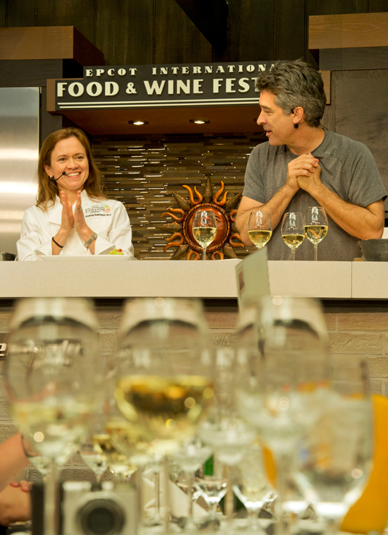 Master Sommelier Andrea Robinson at the Epcot International Food & Wine Festival