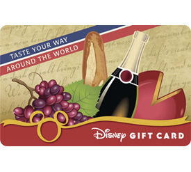 Disney Gift Card Design for Epcot International Food & Wine Festival presented by Chase: 'Taste Your Way Around the World'