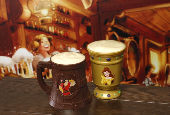 A Souvenir Stein and Goblet from Gaston's Tavern in New Fantasyland