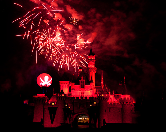 Enjoy the 'Halloween Screams' Fireworks During Mickey's Halloween Party at Disneyland Resort